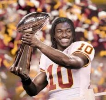 The Redskins gave up three premium draft pick to move up and select RG3. Coach Shanahan and GM Bruce Allen are hoping this picture represents the future or they will be joining the unemployment line soon.
