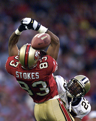 The 49ers traded up to select J.J. Stokes in 1995.