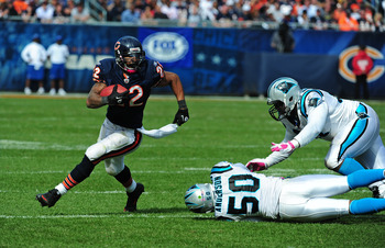 Matt Forte's presence opens up the passing game for Cutler.