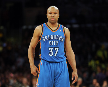 Following a chaotic series of transactions, Derek Fisher is now on the Thunder.
