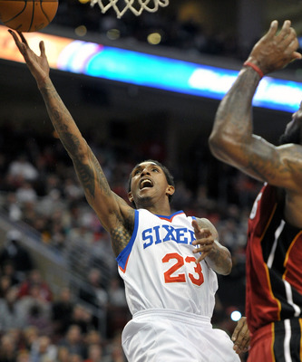 Lou Williams comes off the bench but leads the Sixers in scoring.