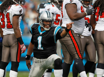 "The Panthers will be looking for Sir Cam ""Isaac"" Newton to continue his impressive rookie success"