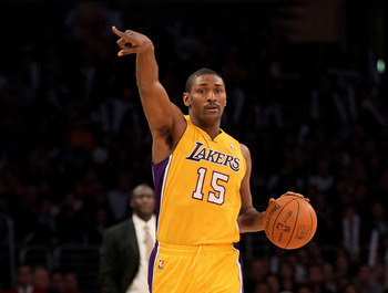 Metta World Peace trying to be a Point Guard