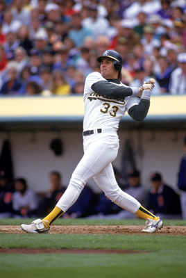 Jose Canseco during his days with the A's.