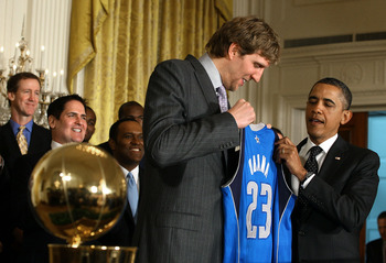 Dirk celebrates with Obama, but has the title hurt his ranking?