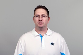 "Carolina Panthers' offensive coordinator Rob ""Chud"" Chudzinski."