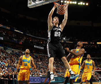 Tiago Splitter is one of several key players who come off the bench for San Antonio.