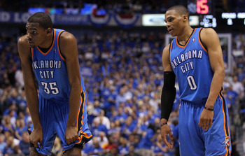Things weren't always smooth sailing between Russell Westbrook and Kevin Durant in last year's playoffs.