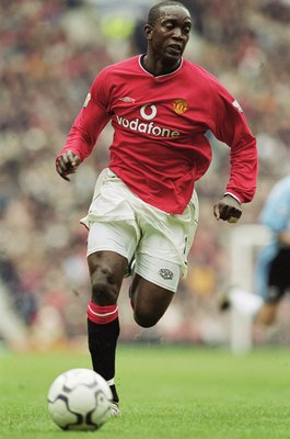 14 Apr 2001:  Dwight Yorke of Manchester United in action during the FA Carling Premiership match against Coventry City at Old Trafford in Manchester, England. United won 4-2. \ Mandatory Credit: Clive Brunskill /Allsport