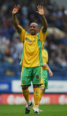 SHEFFIELD, UNITED KINGDOM - MAY 04:  Dion Dublin of Norwich thanks the fans after his last game during the Coca-Cola Championship match between Sheffield Wednesday and Norwich City at Hillsborough on May 4, 2008 in Sheffield, England.  (Photo by Matthew L