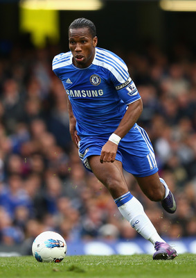 LONDON, ENGLAND - APRIL 07:  Didier Drogba of Chelsea in action during the Barclays Premier League match between Chelsea and Wigan Athletic at Stamford Bridge on April 7, 2012 in London, England.  (Photo by Clive Mason/Getty Images)