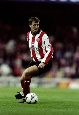 14 Nov 1998:  Matt Le Tissier of Southampton in action during the Fa Carling Premiership match against Aston Villa at The Dell in Southampton, England. Aston Villa won the game 4-1. \ Mandatory Credit: Phil Cole /Allsport