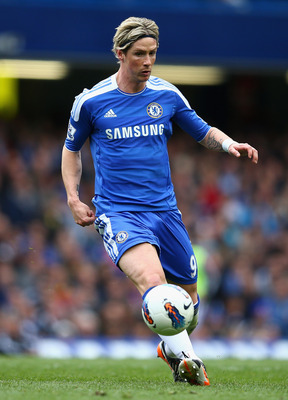 LONDON, ENGLAND - APRIL 07:  Fernando Torres of Chelsea in action during the Barclays Premier League match between Chelsea and Wigan Athletic at Stamford Bridge on April 7, 2012 in London, England.  (Photo by Clive Mason/Getty Images)