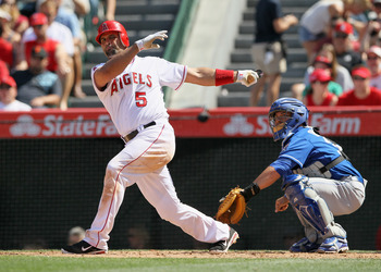 Pujols may improve the Angels run production. But it won't be enough to match the Rangers at the plate.