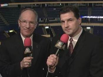 Mike Emrick and Eddie Olczyk have become the sound behind he NHL.