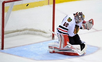 Another opportunity eludes Corey Crawford.