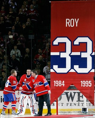 Roy's number #33 is retired in Montréal.