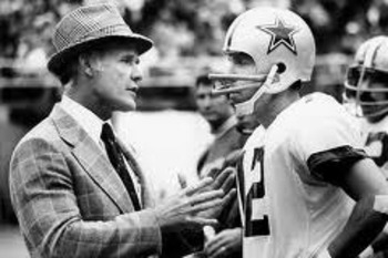 QB Roger Staubach (with Coach Tom Landry)