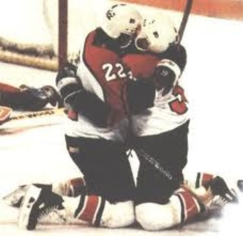 Craven and Tocchet celebrate a wild comeback