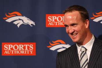 Peyton Manning will lead the Broncos into Charlotte this fall.