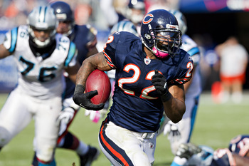 Matt Forte pulverized the Panthers in 2011 with a career-high 205 yards on 25 carries.