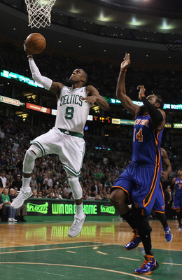 Two of Rajon Rondo's 30 points in Game 2 of the opening round: 2011 NBA Playoffs.