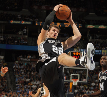 Tiago Splitter is one part of a deep Spurs bench.