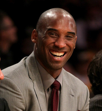 The Lakers are 4-1 since Kobe got injured which means that Bryant can still smile on the bench.