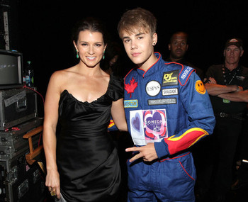 Danica and Justin raided each other's closets for the event [Img Zimbio]