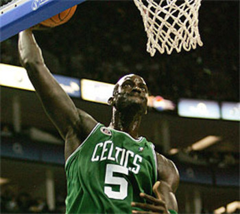 Garnett is as productive on offense as he's been in years.