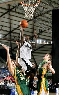 Anrio Adams goes to the basket, courtesy of seattletimes.com
