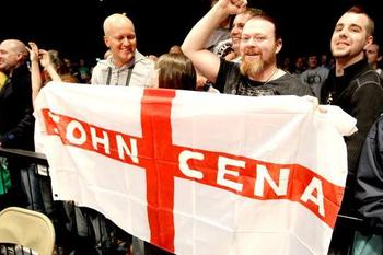 The England Crowd prepares the arrival of John Cena. (Courtesy of WWE.com)