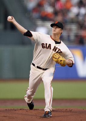 Matt Cain threw a one-hitter in the Giants' home opener