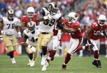 Steven Jackson against the Cardinals
