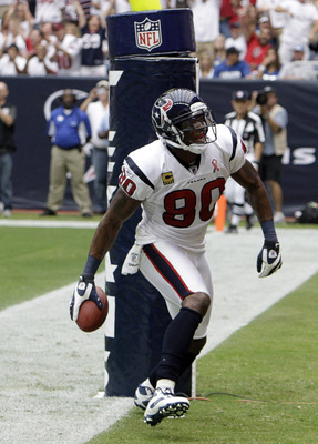 Plagued by injury, Andre Johnson recorded career lows in games played (seven), receptions (33), receiving yards (492) and touchdown receptions (two) in 2011.
