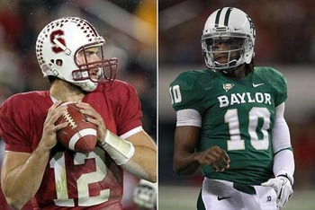 Andrew Luck and Robert Griffin are set to be drafted 1-2 in next week's NFL Draft.