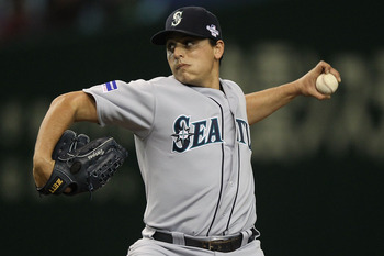 Jason Vargas is one of many young pitchers for the Mariners.