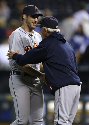 Jim Leyland and Justin Verlander are all smiles.
