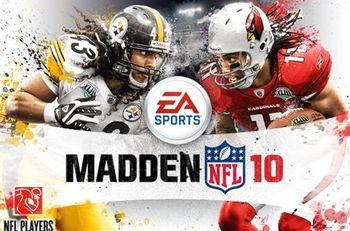 Troy Polamalu got half the cover, but got fell victim to the whole curse.
