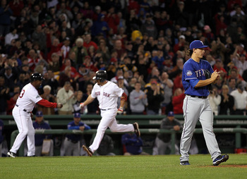 Kevin Youkilis hit his first home run of the season on Wednesday, one the few bright spots in the series against Texas.