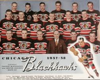 The 1938 Chicago Blackhawks were a below .500 team but still won the Cup (Courtesy of mlive.com)