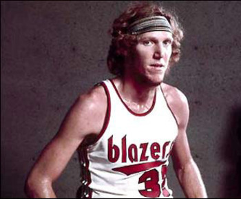 Bill Walton anchored the 1976-1977 Trail Blazers