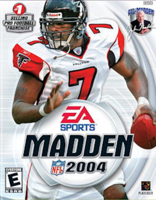 Michael Vick broke his fibula one day after Madden 04 was released