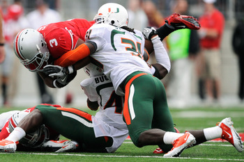 At Miami, LB Sean Spence was a physical force