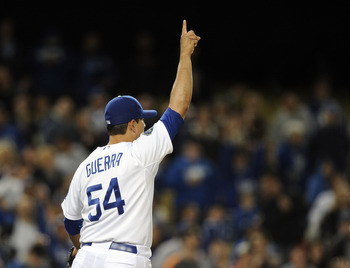 The Dodgers Javy Guerra could very well be number one among closers in 2012