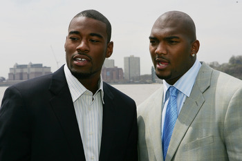 Calvin Johnson (left) with JaMarcus Russell (right)