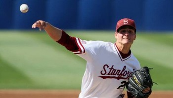 Appel pitches for the Stanford University Cardinal.
