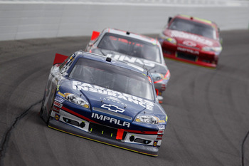 Kasey Kahne pieced together another Top 10 at Kansas
