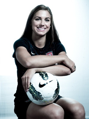 DALLAS, TX - MAY 15:  (EDITOR'S NOTE: Image has been desaturated) Soccer player, Alex Morgan, poses for a portrait during the 2012 Team USA Media Summit on May 15, 2012 in Dallas, Texas.  (Photo by Nick Laham/Getty Images)