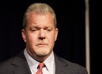 Indianapolis Colts owner Jim Irsay has shown how he can just act on his feelings, not on football or business logic.
